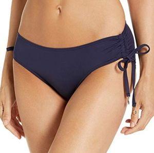 Anne Cole Alex Side Tie Swim Bottom Navy M